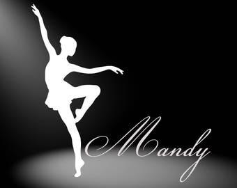 Dance Car Decal - Dance Decal - Ballet Decal - White Dance Decal - Dance Stickers - Ballerina Decal Sticker - Dance Car Sticker