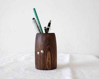 Pen Holder, Pencil Holder, Country Decor, Desk Organizer, Teacher gifts, Wooden Pen Holder, Desk Accessories, Office Decor, Gift for Her