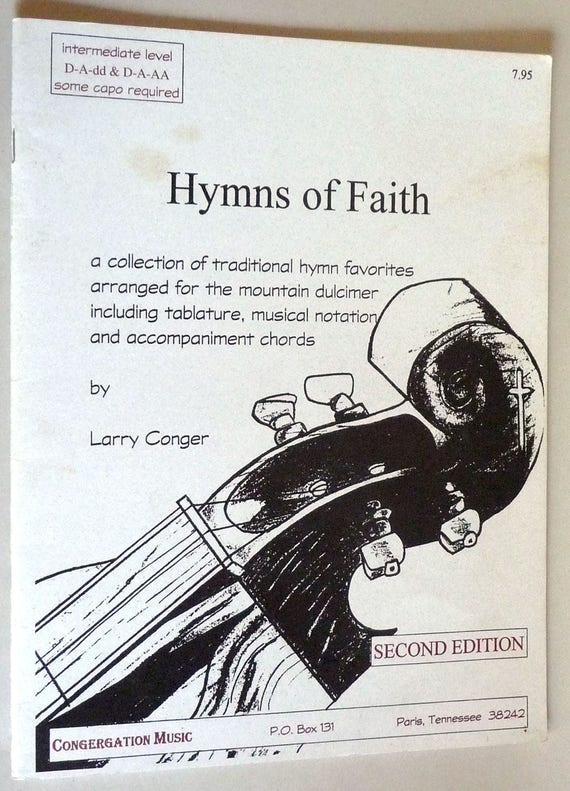 Hymns of Faith (with Companion CD) 1995 Larry Conger - Mountain Dulcimer Music
