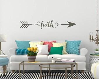 Faith Wall Decor faith wall decal | etsy