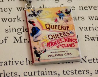 Queerie Queers (with Hands, Wings, and Claws!) - Book Pendant