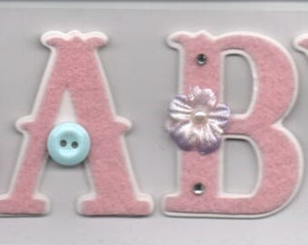 Baby Girl Title 3D Scrapbook Stickers Embellishments Cardmaking Crafts Forever In Time