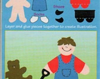 On Go Greg Mini Paperkins Die Cut Paper Dolls Ek Success Scrapbook Embellishments Cardmaking Crafts Paper Piecing