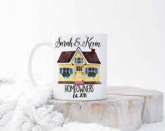 Custom Couples Housewarming Mug, Housewarming Gift, Home Owner Gift,  New Homeowner Gift, Homeowner Mug, New Home Owner Gifts, New Home Gift