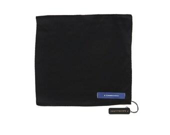 Men's Black Silk Pocket Square Handkerchief Hanky Hankie Squares Camellucci