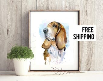 Custom Dog portrait Custom Dog Painting Custom Pet portrait Watercolor Painting Original Painting Valentines Day Gift for mom Memorial gift