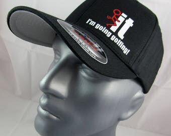 I'm going golfing fitted flex-fit Hat, golf hat, golf gift, golfer, for him, golfing cap, golf cap