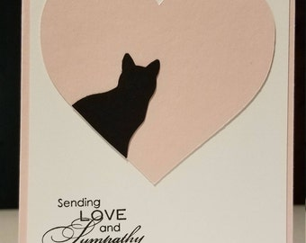 Handmade Cat Sympathy Card