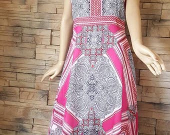 Hippie style dress,90s does 70s fashion/festival dress