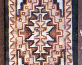 Navajo Rug, Two Grey Hills, Cross Stitch Kit, Native American, Indian Rug, DIY, Vintage, Graphkits, Gift for Her, Do It Yourself, Home Decor
