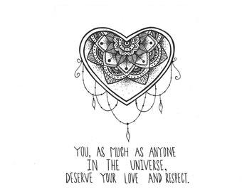 Buddha Love Quote Print