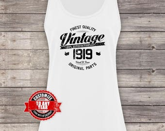 Vintage 1919, 99th birthday, 99th birthday gifts for men, 99th birthday gift, 99th Birthday Tank Top, gift for 99th , Tank Top