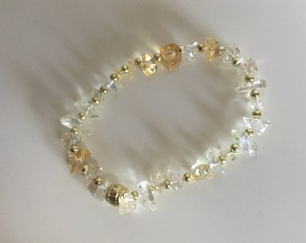 Citrine jewelry, Law of Attraction bracelet