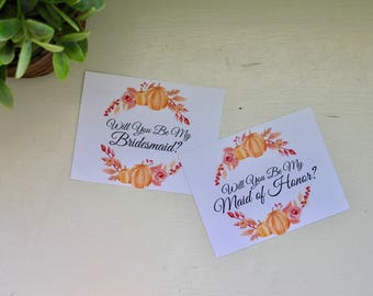 Will You Be My Bridesmaid Card, Will You Be My Maid Of Honor Card, Bridesmaid Proposal, Maid of Honor Proposal, Fall Cards