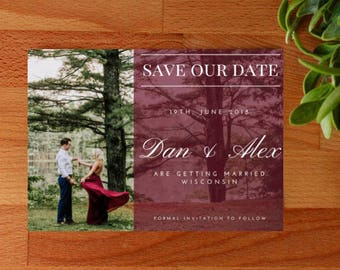 Custom Photo Save The Date Invitation, Save Our Date, Printable or Printed, Custom Invitation
