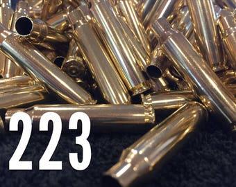 Empty 223 Brass Shells 5.56mm Ammo Casings Fired Spent Bullet Reloading DIY Jewelry Crafts