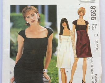 McCall's sewing pattern 9396 - Misses' empire waist dress - size 10-12-14