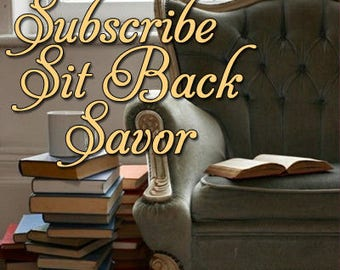 Subscription Box for Books, Book of the Month, Book Club