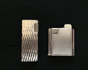 Two Vintage Lighters, One GRAND KING, One CORONA - 1950/1960