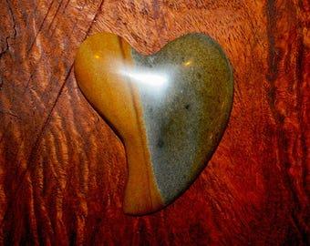 Heart Shaped Owyhee Jasper Cabochon