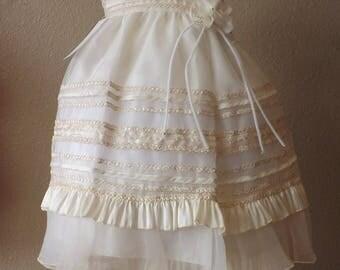 Baptism christening robe, dress, christening dress