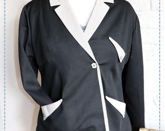 1980's Fitted Black Jacket with