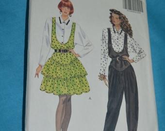 Butterick 5091 Misses Jumper Jumpsuit and Blouse Sewing Pattern - UNCUT - Size 12 14 16