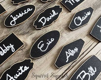 5 Chalkboard Name Tags with Magnetic Backing