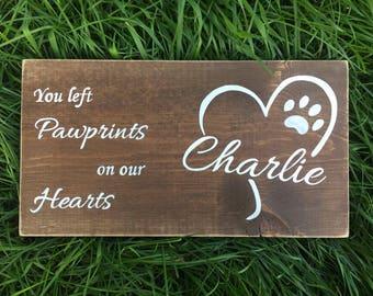Pet Memorial Plaque Etsy
