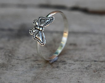 Butterfly Ring, Butterfly Gifts, Rings, Silver Ring, Sterling Silver Ring, Fashion Ring, Silver Jewellery, Antique Ring, Antique, JR0005