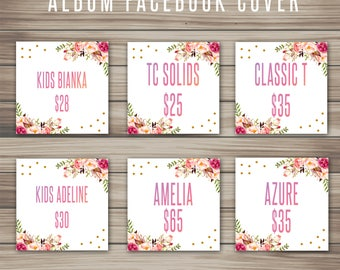 Boho Album Facebook Cover, Marketing Kit, Fast Free Personalization, Fashion For Retailer, home office approved, Digital File K15111
