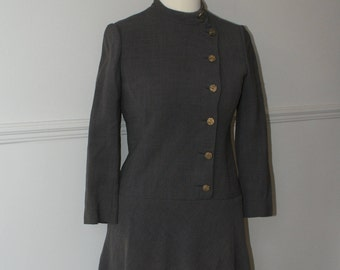 Vintage 1960's Military Style Dress