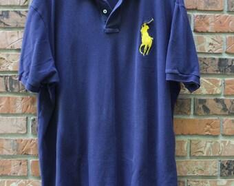 Vintage Polo Ralph Lauren Big Pony Polo Shirt Men's XXL
