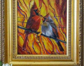 Original Oil Bird Painting