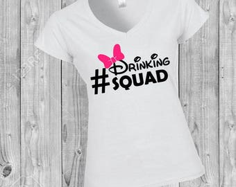 Drinking Squad Men's & Women's Epcot Food and Wine Festival Disney World Women's Disney Shirt Disney Shirts Minnie Mouse group Disneyland
