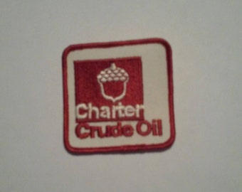 Charter Crude Oil Company Shop Jacket Patch - Vintage