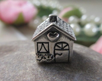 Authentic Pandora Home Sweet Home Charm 791267 Free Velvet Pouch Bag