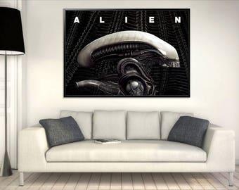 Alien Poster - (Grey & Blue) A0 - INSTANT DOWNLOAD