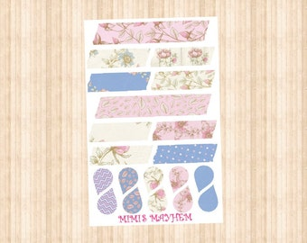 Flower Washi Strips & Drops // Happy Planner // Erin Condren //Personal