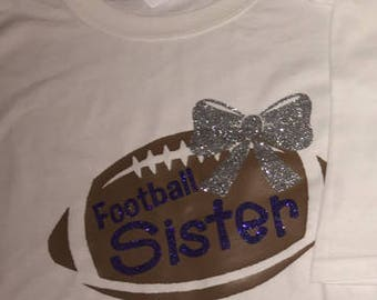 Football Sister with name GLITTER