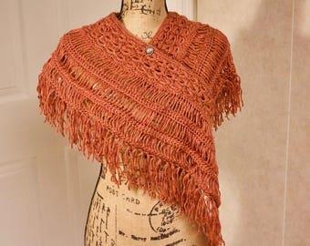 Fall Fringe Shoulder Shawl: Handmade