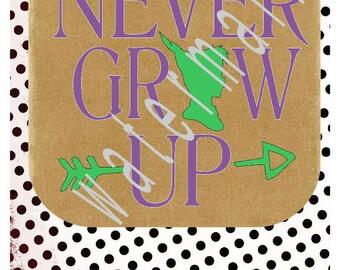 Peter pan SVG - Disney vacation shirts - Disney svg - silhouette cameo cricut - Peter pan Svg JPEG t-shirt transfer Never grow up Tinkerbell