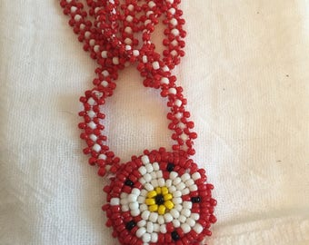 Native American Beaded Necklace/Choker