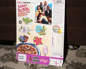 Fresh Prince of Bel-Air Cereal Box Raisin Bran 1994 Will Smith James Avery Janet Hubert-Whitten Alfonso Ribeiro Rap Music Sitcom