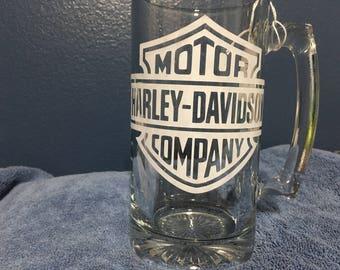 Etched Beer mug
