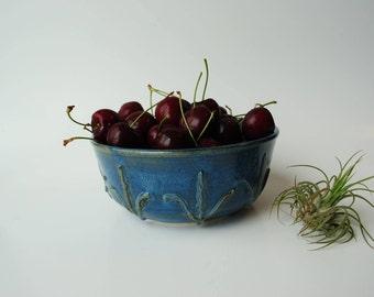Handmade Ceramic Bowl | Blue Pottery Bowl | Stoneware Bowl