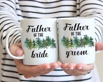 Father of the Groom, Father of the Bride, Mug Set, Gift for Dad, Dad Wedding Gift, Coffee Mug for Dad, Wedding Gift, Thank You Gift