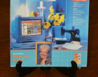Sew Precise! 600+ Quilt Bock Foundation Patterns Shirley Libby Designs CD Rom Electric Quilt Company