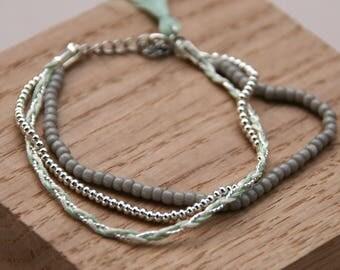 Seraphine Bracelet (mint & silver)