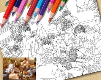 BTS Printable Coloring Page | Love Yourself (L)